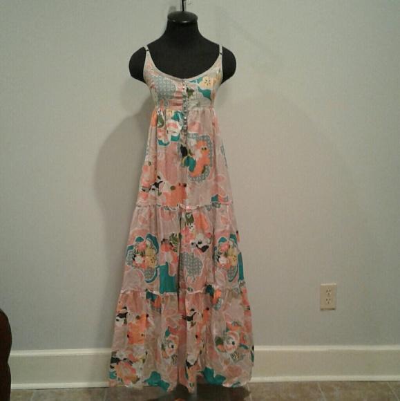 d1eb349b85 Surkana Hippie Boho Cotton Maxi Dress L. M_5acb7e9061ca10b9f883fa10